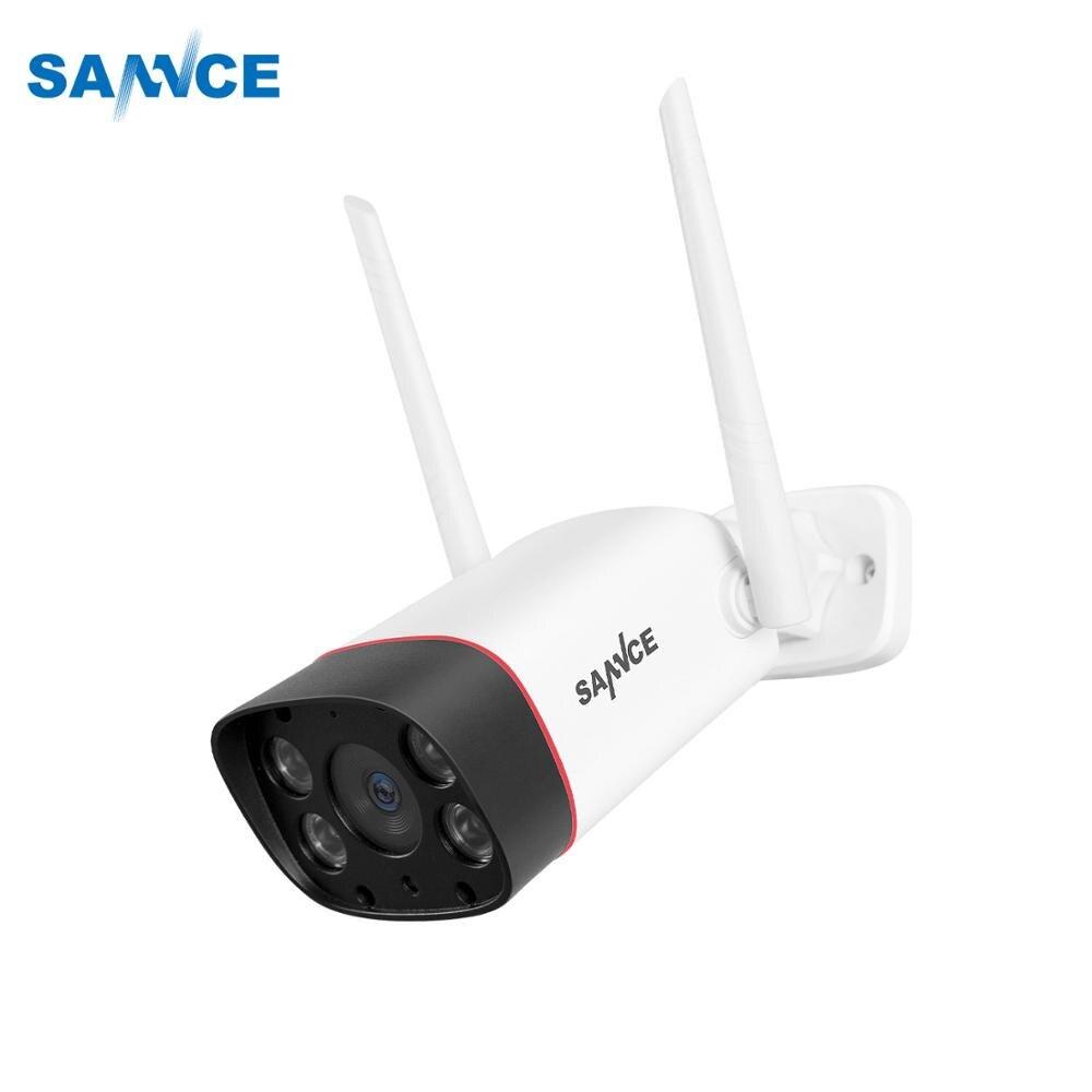 SANNCE Водонепроницаемая ip камера с разрешением 1080 P, HD WiFi, беспроводная цилиндрическая камера наблюдения, наружная ИК камера ночного видения, камера для домашней безопасности