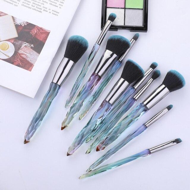 Hot Makeup Brushes Set Fan Loose Foundation Powder Contour Blush Eyebrow Brush Eye Make Up Brush Cosmetics Beauty Tools TSLM1 5