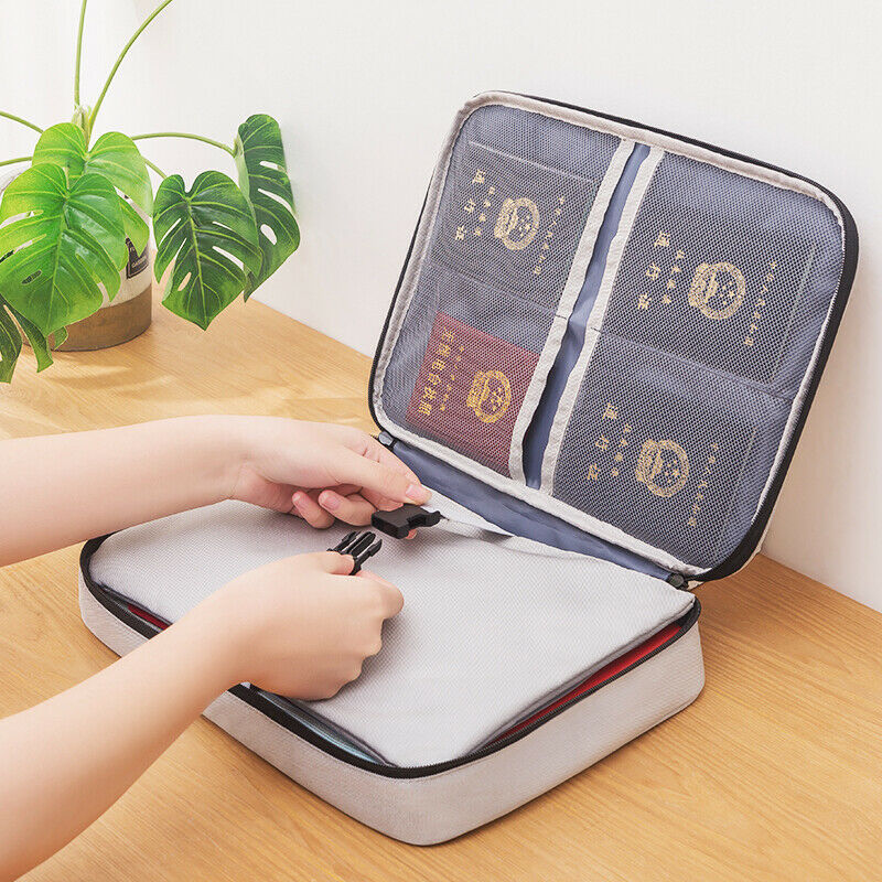 2020 Newest Hot Document Bag Waterproof Travel ID Card Wallet Passport Organizer Bag Credit Card Storage Bag
