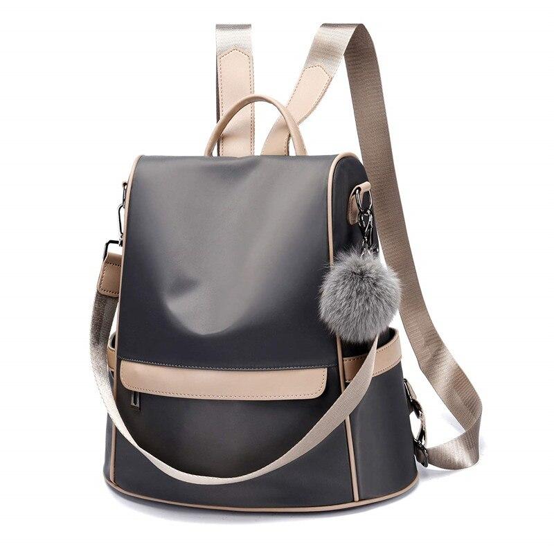 Femmes sac à dos sac à main en Nylon Anti-vol décontracté léger voyage école sac à bandoulière