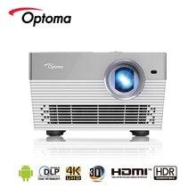 Optoma I5 + 4 K מקרן אנדרואיד Blu ray 3D UHD HDR DLP 3840x2160 רזולוציה 1700 ANSI lumens LED מקרן USB HDMI לקולנוע ביתי
