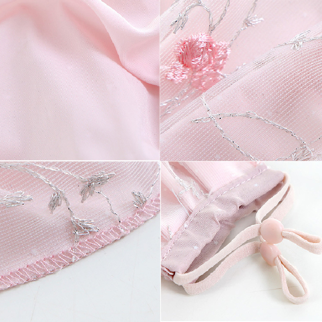 Women Lace Embroidery Floral Masks Sunscreen Imitation Silk Breathable Mouth Muffle Ladies Sweet Korean Mouth Masks Face Covers 5
