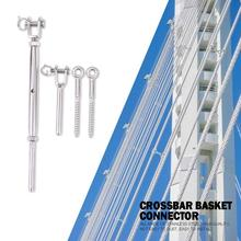 Guardrail Rope Fitting Set Adjustable 1/8 inch Stainless Steel Wire Railing Tension Turnbuckle Toggles Screw Wood Posts Tools 5 group 304 stainless steel duty heavy cable railing kits for wood posts diy balustrade kit with jaw swage fork turnbuckle