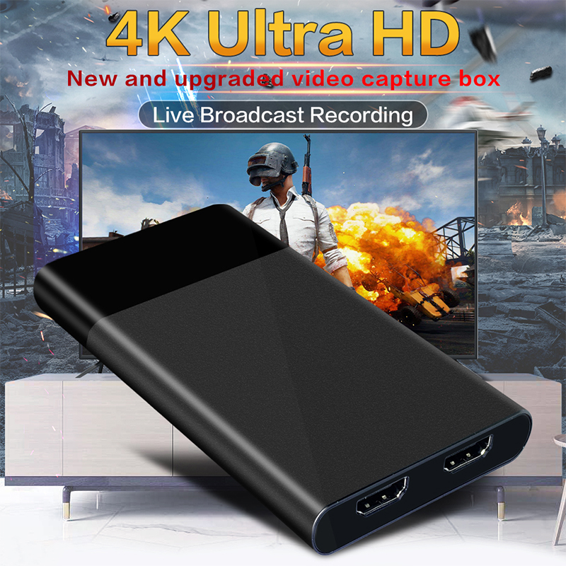 Video Capture Card USB3.0 1080P Grabber 4K HDMI Game Dongle HDMI OBS for Capturing Game Live Streaming and Home Theatre System