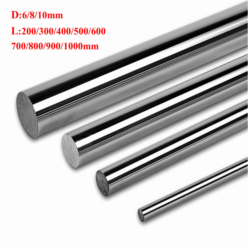 Optical Axis Smooth Rods 200 300 400 500 600 700 800 900 Mm Linear Shaft Rail 6 8 Mm Diameter Guide Slide For 3D Printer Part