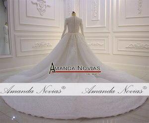 Image 3 - Nowy projektant suknia ślubna muzułmańska suknia ślubna 2020