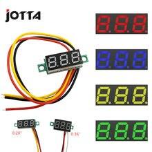 Mini voltímetro digital, medidor de voltagem com proteção de polaridade reversa digital dc 0-100v testador de testador