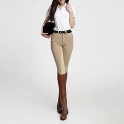 Pantalon équitation pour femmes culottes pantalon équitation Silicone pantalon haute élastique femme vêtements équestres