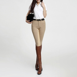Pantalones de montar a caballo para pantalón tipo malla para mujer, pantalones para montar a caballo, pantalones largos elásticos de silicona, ropa ecuestre femenina