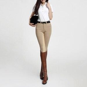 Spodnie jeździeckie dla kobiet bryczesy jazda konna spodnie jeździeckie silikonowe wysokie elastyczne spodnie damskie damskie odzież jeździecka