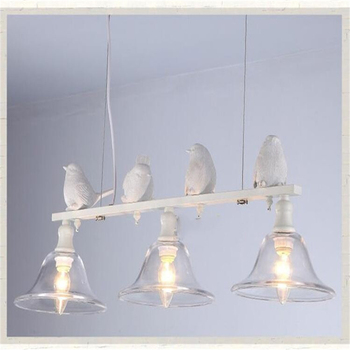 Modern Home Decoration 3 Head Bird Lamp Dining Room Pendant Light Glass Iron Light Bar Lamp Free Shipping LED Bulbs Cord Pendant post modern individuality iron pendant lamp restaurant cafe bar hotelroom decoration light free shipping led bulbs cord pendant