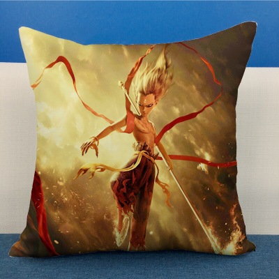 NE ZHA mythology film comic figure pillow Plush Stuffed Baby Child Original Toys Christmas Gift Cushion pillow in Plush Pillows from Toys Hobbies