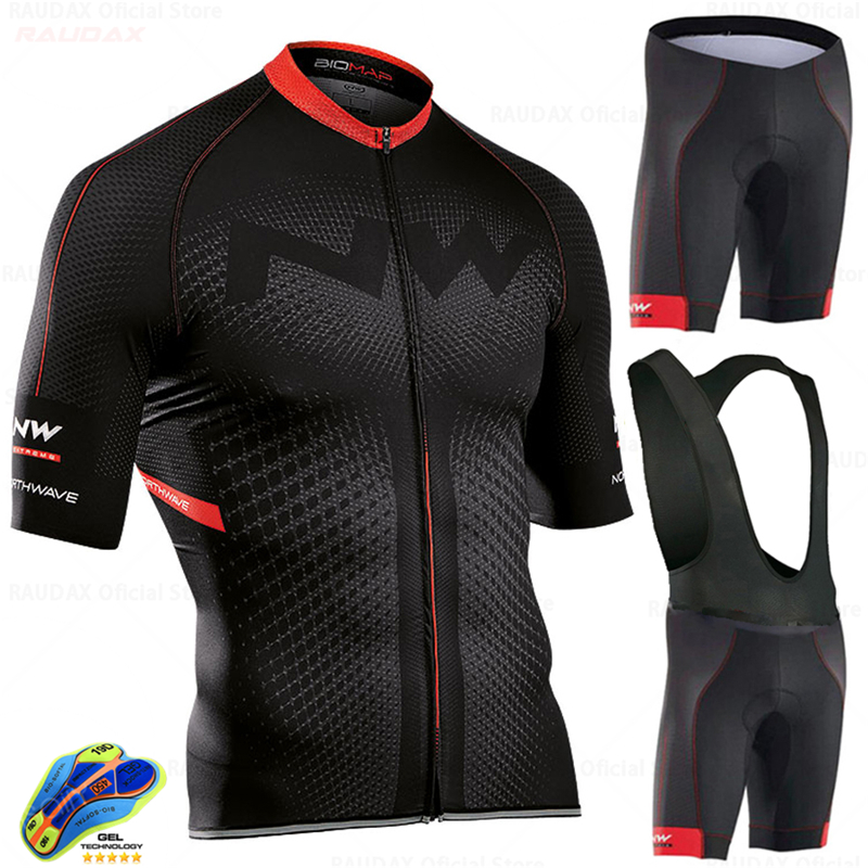 Northwave Nw Summer Cycling Jersey Set MTB Bicycle Cycling Clothing Mountain Bike Wear Clothes Maillot Ropa Ciclismo Triathlon