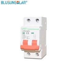 1 pces 2 pole16a/32a/50a/63a dc250v 500v mcb dc disjuntor energia solar fotovoltaica (pv) interruptor dc solar