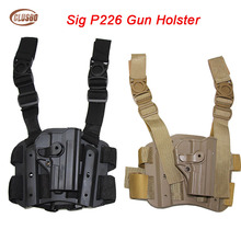 Tactical Airsoft Gun Holster For Sig Sauer P226 P220 Drop Leg Thigh Holster Military Gun Case Hunting Combat Pistol Holster цена и фото