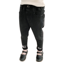 Jeans Embroidery Toddler Girls Letter Casual