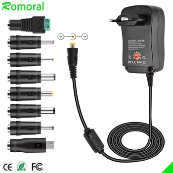 цена на 3V 4.5V 5V 6V 7.5V 9V 12V 2A 2.5A AC / DC Adapter Adjustable Power Supply Universal Adaptor Charger for LED Light Bulb LED Strip