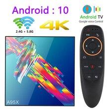 A95x r3 rk3318 smart tv box z systemem android 10.0 tv box 4K zestaw Quad core top box mini odtwarzacz multimedialny 4gb 32gb 64gb 2gb16gb