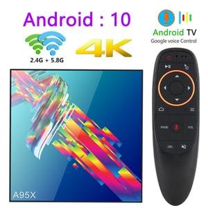Image 1 - a95x r3 rk3318 smart tv box android 10.0 tv box 4K Quad core set top box mini media player 4gb 32gb 64gb 2gb16gb