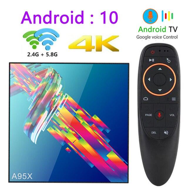 a95x r3 rk3318 smart tv box android 10.0 tv box 4K Quad core set top box mini media player 4gb 32gb 64gb 2gb16gb