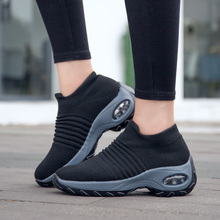 Uberu  Fashion Flying Woven Women's Sneakers Soft Shock Absorption Comfortable Breathable Casual Woman Running Shoes Size 35-42