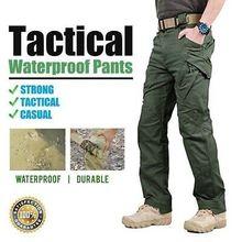 IX9 City taktyczne spodnie wojskowe mężczyźni SWAT Combat spodnie wojskowe mężczyźni wiele kieszeni wodoodporne odporne na zużycie Casual Cargo Pants tanie tanio s archon Pełnej długości Mieszkanie REGULAR COTTON Poliester 29 - 40 Midweight Suknem Kieszenie W stylu Safari Zipper fly