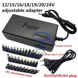 Image 1 - Universal AC DC 12V Switching Adjustable Power Supply Adapter Charger Notebook Transformer 15V 16V 18V 19V 20V 24V Adaptor
