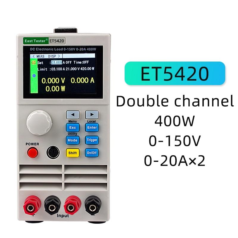 ET5420 testeur de batterie professionnel Programmable Dc indicateur de batterie de charge électronique moniteur de batterie Usb Tестер testeur de charge
