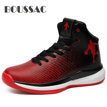 BOUSSAC Jordan Basketball Shoes Mens Cushioning Sneakers Non-slip Breathable Outdoor Sports Retro