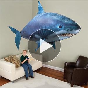 Controle remoto tubarão brinquedos de natação ar peixe infravermelho rc voando balões de ar nemo palhaço peixe crianças brinquedos presentes festa decoração