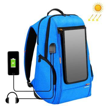 HAWEEL Outdoor Solar Panel Power Backpack Bags Multi-function Breathable External USB Charging/Earphone Port Laptop Tablet Bags
