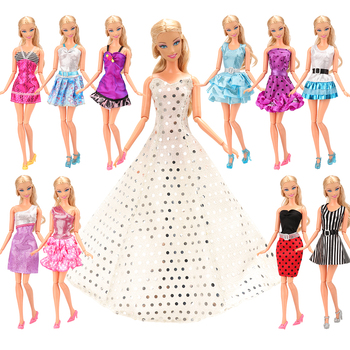 22 items/Set Kids Toys Accessory =12 doll Dress random+10 Shoes Princess Our generation doll Clothes Accessories For Barbie Gift 9 item set doll accessories 3 pcs doll clothes dress 3 plastic necklace random 3 pairs shoes for barbie doll girl gift toy