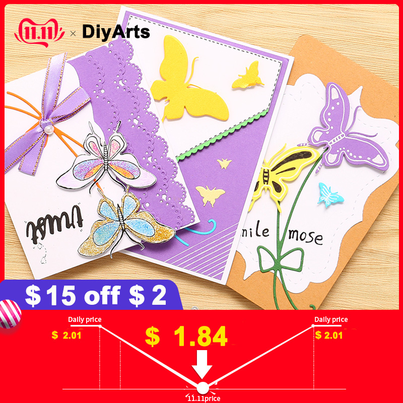 DiyArts Butterfly Dies Bow Metal Cutting for Card Making Scrapbooking Embossing Die Cut Stencil Craft New 2019