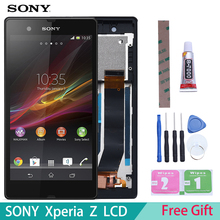 5 #8221 ORIGINAL Display For SONY Xperia Z LCD Touch Screen With Frame For SONY Xperia Z Display Replacment L36H C6603 C6602 C6606 cheap Capacitive Screen 1920x1080 3 L36h L36i C6606 C6603 C6602 C6601