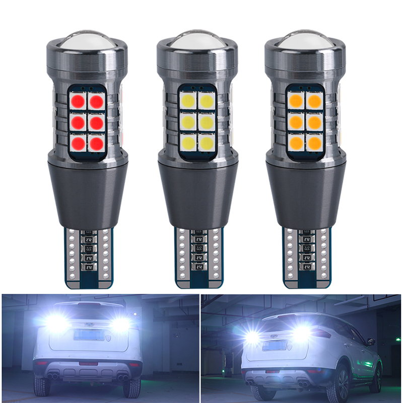 T15 W16W WY16W LED Bulbs 3030 27SMD Canbus No Error Car Backup Reserve Light Auto Tail Brake Lamp Super Bright 1620LM White 12V