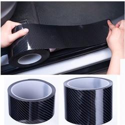 Carbon Fiber Car Door Sill Sticker Scratch Proof  Moulding Strip Car Sticker Protector Door Edge Protective Black