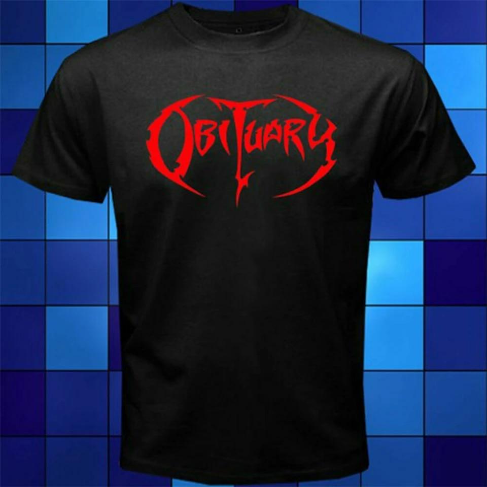 Nouveau populaire Obituary Death Metal Band Homme T-Shirt Noir Taille S-3XL