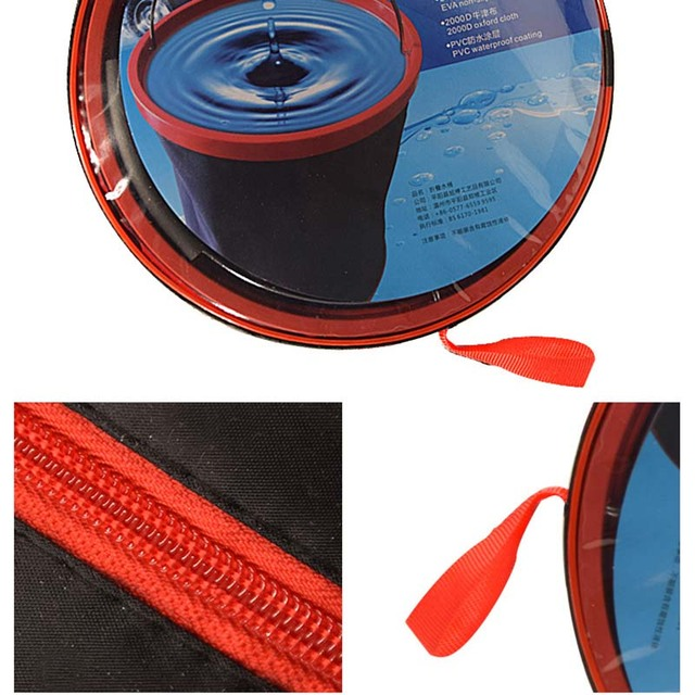 New Portable Large-Capacity Outdoor Camping Fishing Folding Water Bucket Car Storage Container Portable Fishing Tools