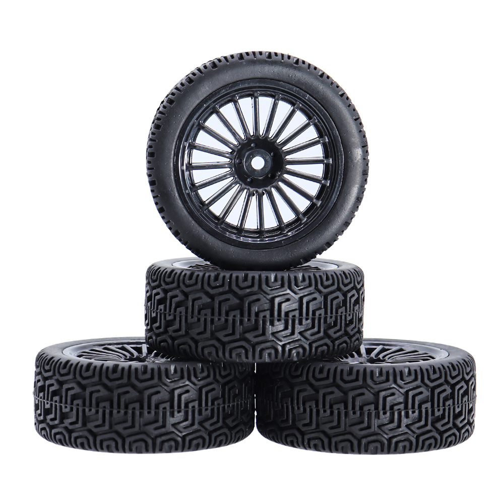 4Pcs <font><b>RC</b></font> 1/10 Car Tires Wheel Hub Rim Hex 12mm for <font><b>1:10</b></font> <font><b>HPI</b></font> HSP <font><b>RC</b></font> On Road Rally Car Traxxas TRX4 TRX-4 Tamiya Accessories image