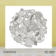 ZhuoAng Lucky charm / Koi Clear Stamps For DIY Scrapbooking/Card Making/Album Decorative Silicon Stamp Crafts серьги other lucky brand stamp 10