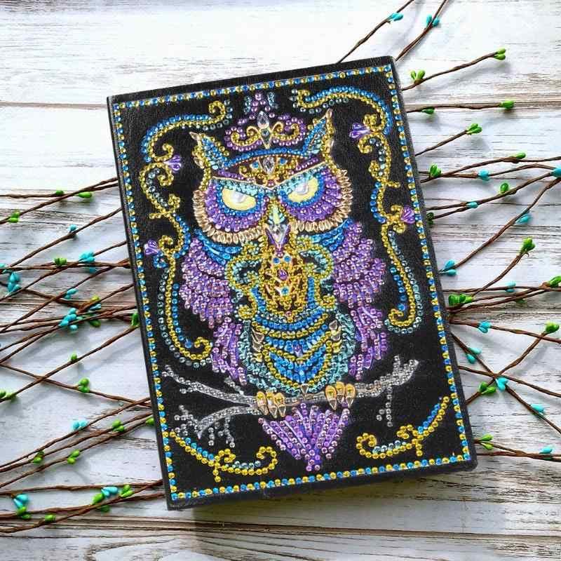 Diamant Notebook DIY Eule Spezielle Förmigen Diamant Malerei 50 Seiten A5 Sketch Notebook Weihnachten Dekoration Weihnachten Geschenke