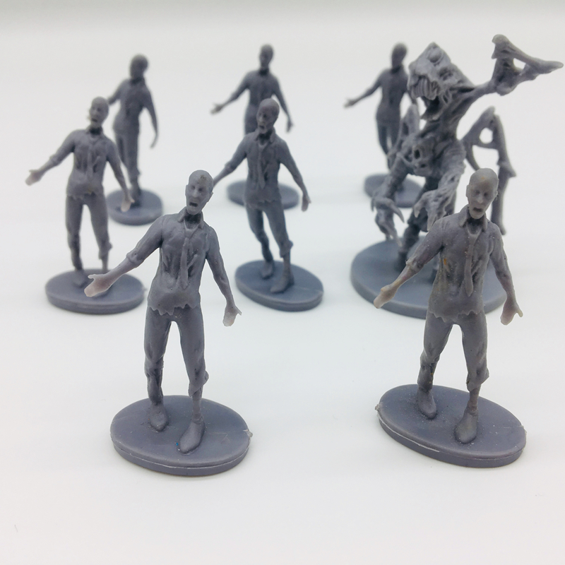 Hot 4pcs Board Role-playing Games Model Endless Slaughter Black Death Zombies – Npc Zombie Random for kids toys Xmas image