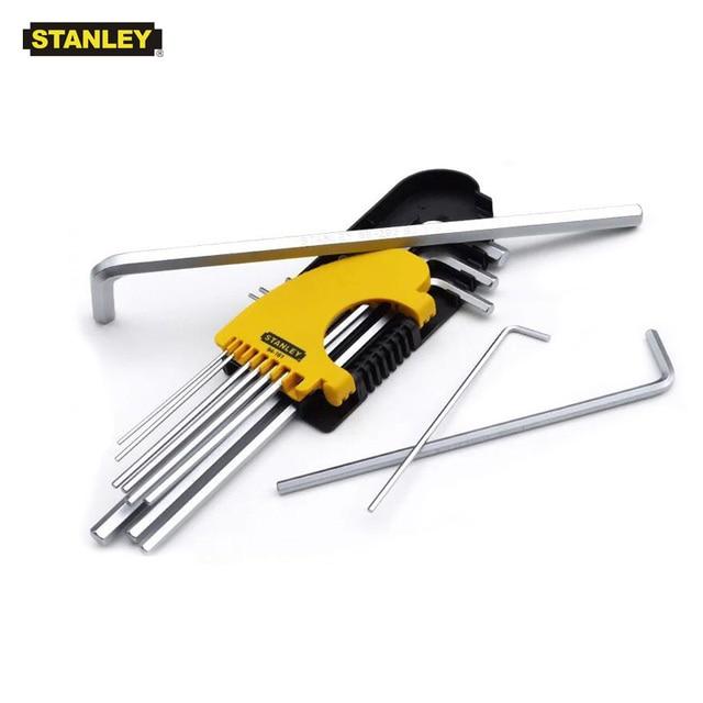 Stanley 12pcs/set short long allen key set inch 1/16 5/64 3/32 to 3/8 hex shank flat end imperial hex key wrench sets S2 steel 1