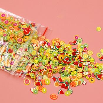 1000 sztuk owoce w stylu kreskówki ciasto kromka żywica materiał do wypełniania dla Uv epoksydowa wypełniacz Diy rzemiosło dekoracja forma do tworzenia biżuterii wypełnienia tanie i dobre opinie Fatalism 0 05kg resin mold SILICONE