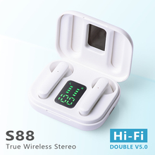 Levana fone de ouvido sem fio bluetooth 5.0 mini tws fones alta fidelidade esporte com caso carregamento para todos os smartphones s88