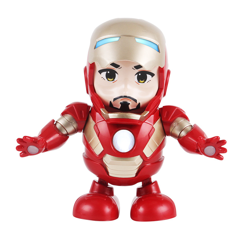 Dance Iron Man Action Figure Toy LED Flashlight with Sound Avengers Iron Man Hero Electronic Toy B652 in Action Toy Figures from Toys Hobbies