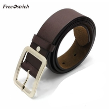 цена на Free Ostrich Faux Leather Buckle Men 108cm Belt Casual Faux Leather Square Pin Buckle Waist Belt Strap for Jeans 908