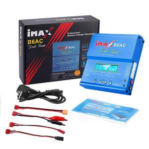 Image 5 - IMAX B6 AC 80W B6AC RC şarj 6A çift kanallı şarj dengeleyici Li ion Nimh Nicd Lipo pil dijital LCD ekran deşarj