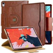Easyacc For iPad Pro 12.9 Case Leather Flip Folio With Auto Sleep/Wake Stand Apple Cover 360 Degree Rotating