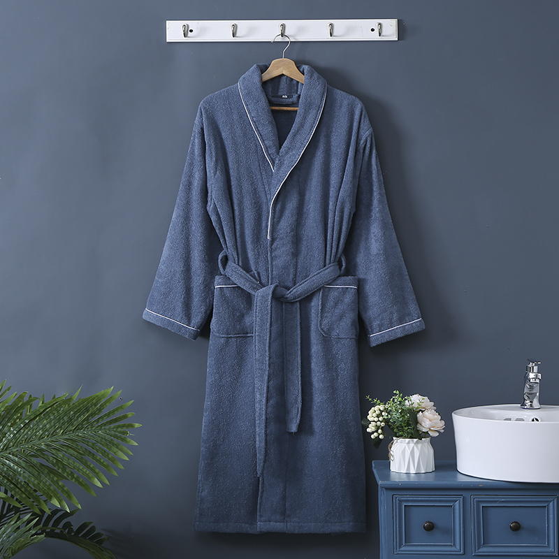Toweling Robe Men 100% Cotton Homewear 100% Cotton Unisex Robe Kimono Lovers Sleeprobe Terry Sleeprobe Male Bridesmaid Robes